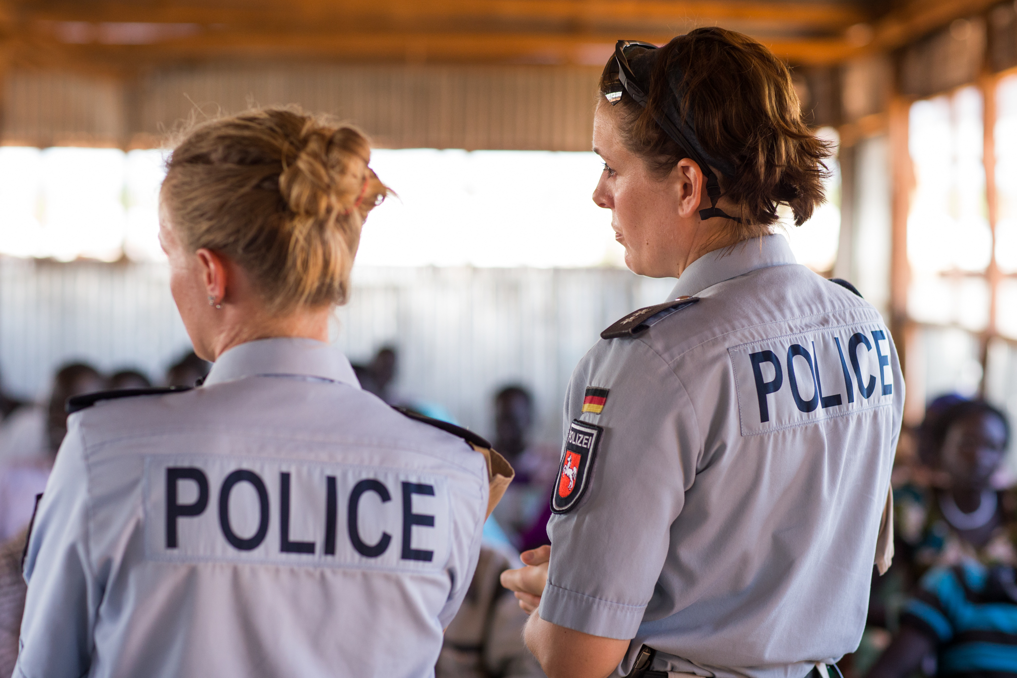 UN police officers in UNMISS delivering a training for the national police in South Sudan. Photo: UNMISS/ Ilya Medvedev