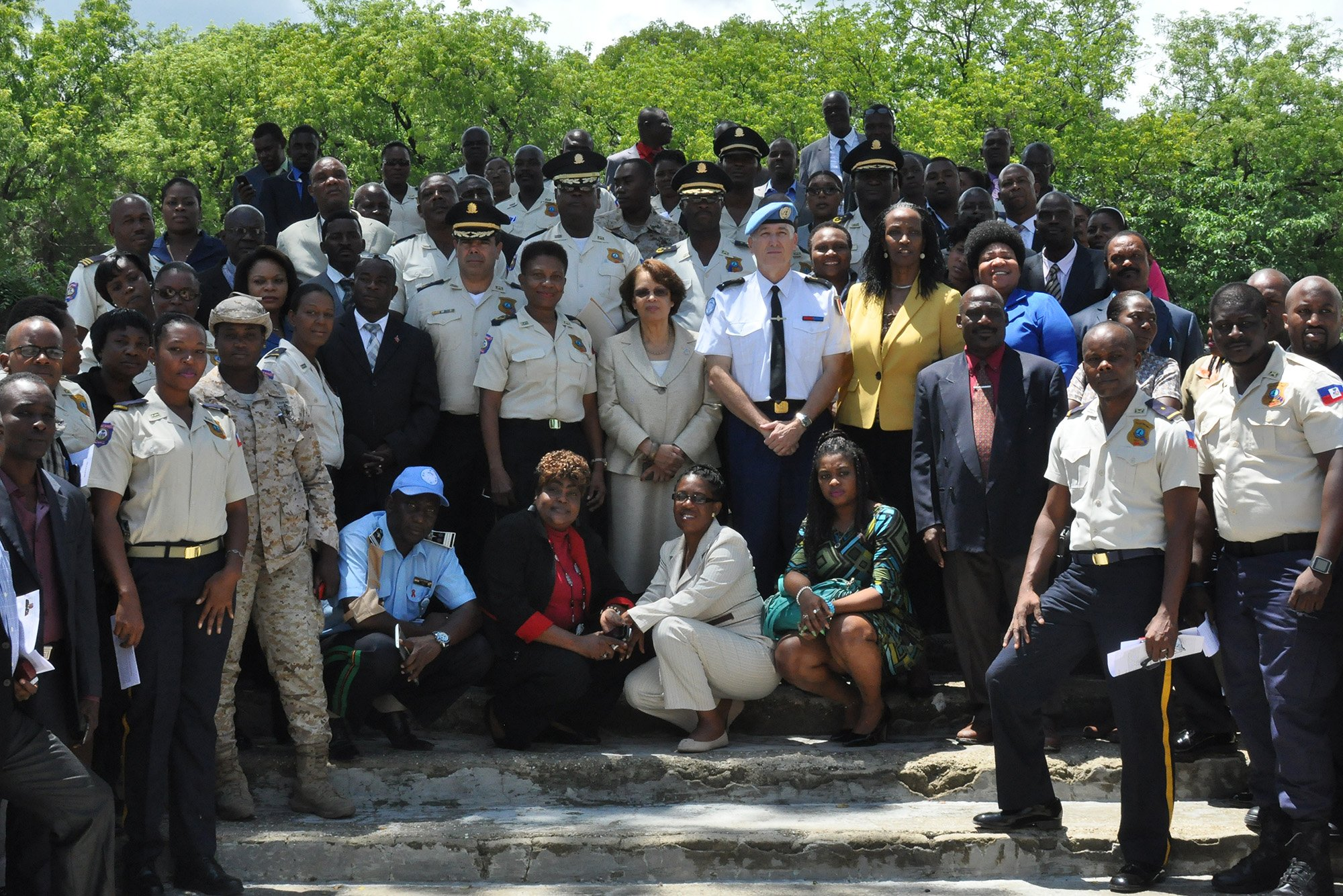 On 13 September, the specialized team conducted a workshop for over 100 law enforcement personnel in Haiti on how to investigate sexual and gender-based violence. Photo: MINUSTAH/ Ange Sebutege
