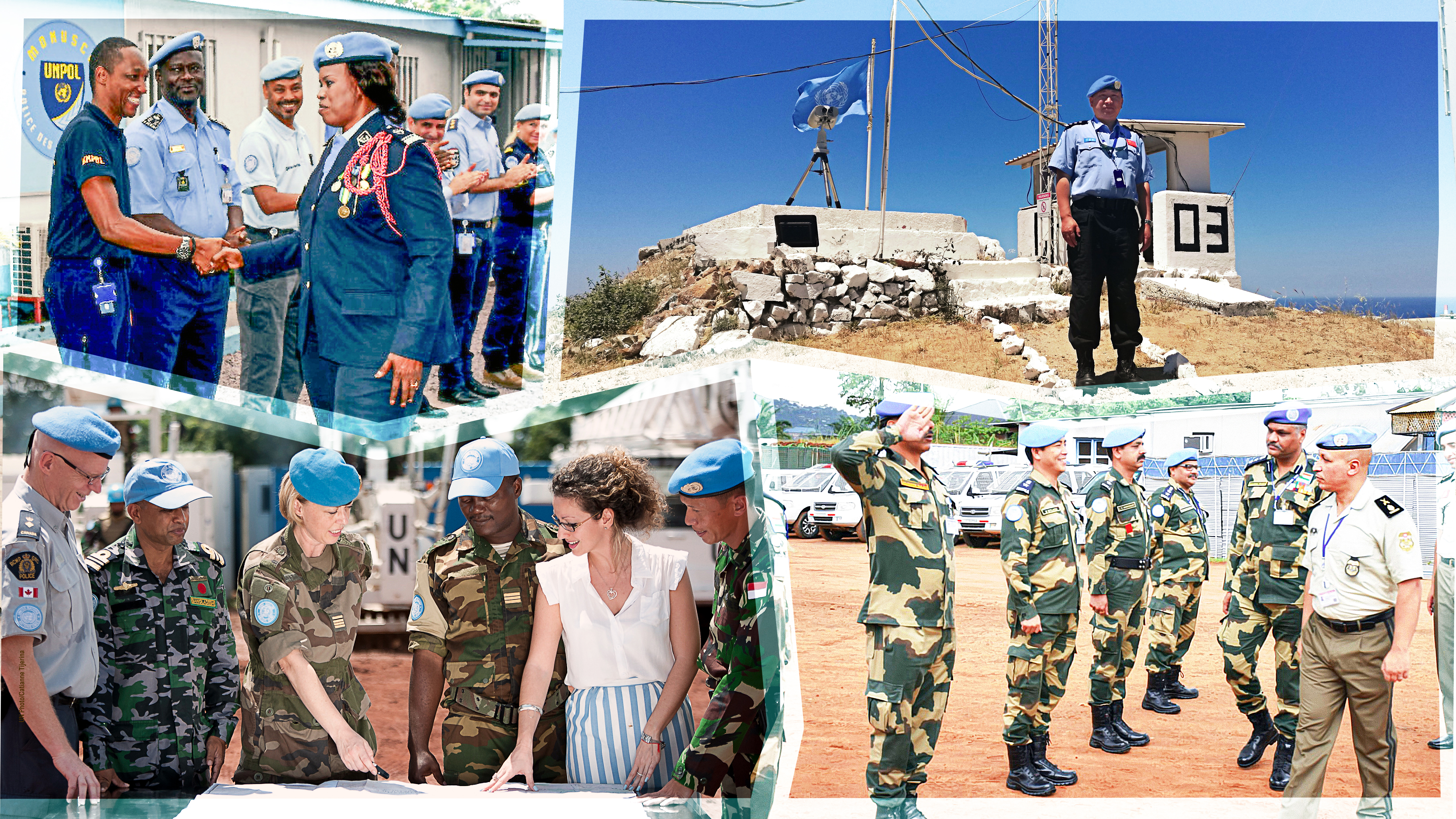 SPC staff supporting various peacekeeping missions