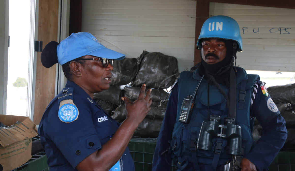 Assistant Superintendent of Police, Sylivia Adzo Sowlitse, serving as formed police unit commander in South Sudan. Photo: UNMISS/ Nektarios Markogiannis