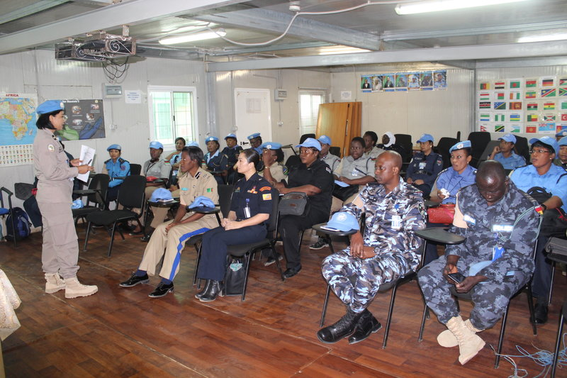 Training for police officers in UNAMID on the UN police gender toolkit in January 2017. Photo: UNAMID