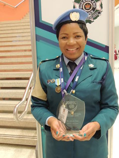 Assistant Inspector of Police Annah Chota, recipient of the 2017 International Female Police Peacekeeper award. UN Photo